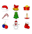 Christmas Set of characters vector image vector image
