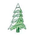 christmas tree pine decoration ornament design vector image vector image