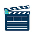 clapperboard for filming movie vector image