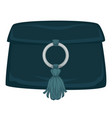clutch with decoration women fashion and trendy vector image vector image