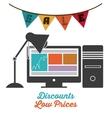 commerce on line design vector image