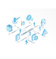 compliance isometric concept connected line 3d vector image vector image