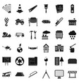 construction of house icons set simple style vector image