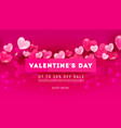 creative valentines day sale banner with 3d vector image