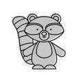 cute and tender raccoon vector image