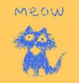 cute fur cat says meow vector image