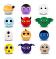 cute halloween circle icon vector image vector image