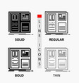 design grid interface layout ui icon in thin vector image vector image