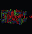 entrepreneurialism a walk in the dark text vector image vector image