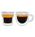 espresso shot vector image vector image