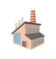 Factory building cartoon icon vector image vector image