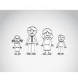Family sketch vector image vector image