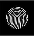 fingerprint icon biometric identification symbol vector image vector image