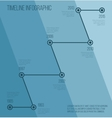 flat blue diagonal timeline infographic vector image vector image