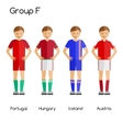 Football team players Group F - Portugal Hungary vector image