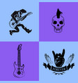 forever rock music icons on vector image