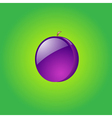 Glossy plum vector image vector image