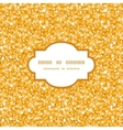 golden shiny glitter texture frame seamless vector image vector image