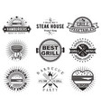 grill or bbq vintage label badge set vector image
