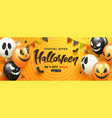 halloween sale promotion poster with scary vector image vector image