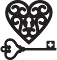 Heart and skeleton key vector | Price: 1 Credit (USD $1)