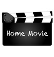 home movie vector image vector image