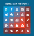 home rent icons vector image