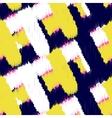 Ikat scribble swabs seamless pattern vector image vector image