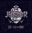 junior rugteam emblem vector image vector image