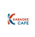karaoke cafe letter k icon vector image vector image