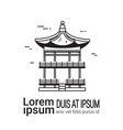 korean palace sketch hand drawn famous seoul vector image