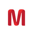 letter m logo template vector image vector image