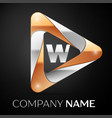 letter w logo symbol in the colorful triangle on vector image vector image