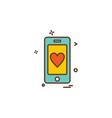 love mobile icon design vector image