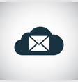 mail cloud icon trendy simple concept symbol vector image