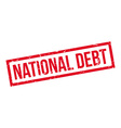 National Debt rubber stamp vector image vector image