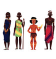 native black skinned people of african tribes and vector image