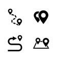 navigation route simple related icons vector image