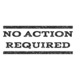 No Action Required Watermark Stamp vector image vector image