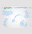 nordic council iceland norway denmark finland vector image