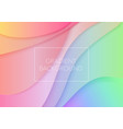 paper art cartoon abstract waves trendy gradient vector image