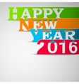 Paper strips with HAPPY NEW YEAR 2016 text vector image vector image
