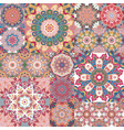 pastel vintage seamless pattern with floral vector image vector image