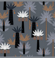 pattern with palm trees vector image vector image