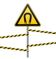 safety sign caution - danger magnetic field vector image vector image