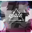 Sale discount poster polygonal background vector image vector image