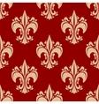Seamless heraldic fleur-de-lis floral pattern vector image vector image
