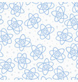 seamless pattern backgrouns atom vector image