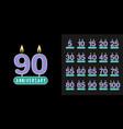 set anniversary logotype anniversary vector image vector image