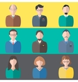Set business people vector image vector image